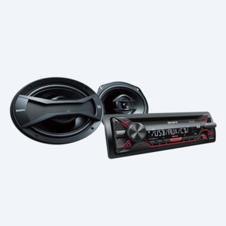 "Picture of CD Receiver with 6x9"" Speakers"