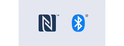 NFC and Bluetooth logos