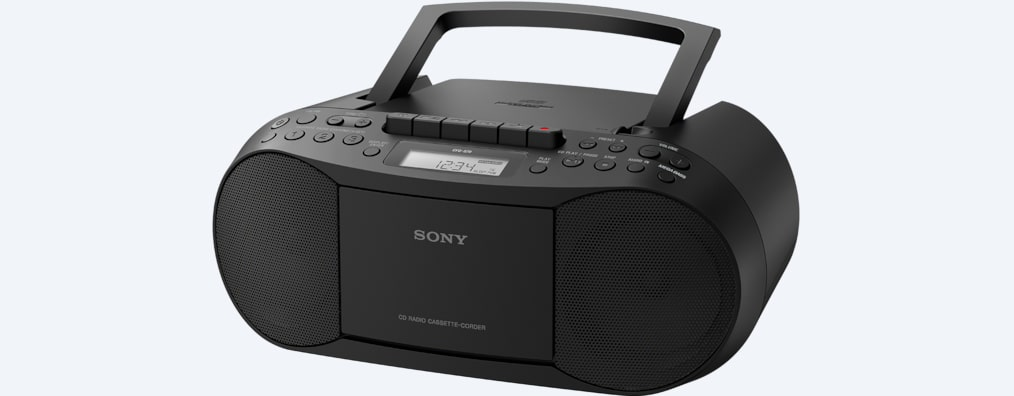 Images de Boom box CD/cassette avec radio