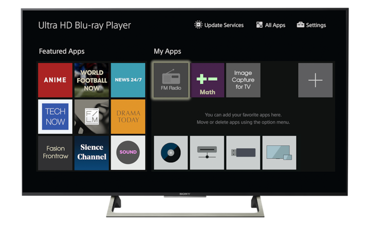 BRAVIA TV interface