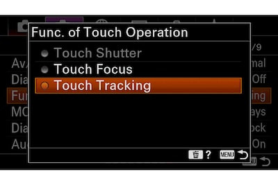 Touch Tracking turns on Real-time Tracking at any time