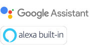 Google Assistant and Alexa Built-in logos