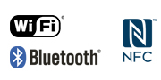 شعار WiFi® NFC Bluetooth®‎
