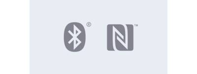 DSX-A410B Bluetooth® and NFC icons